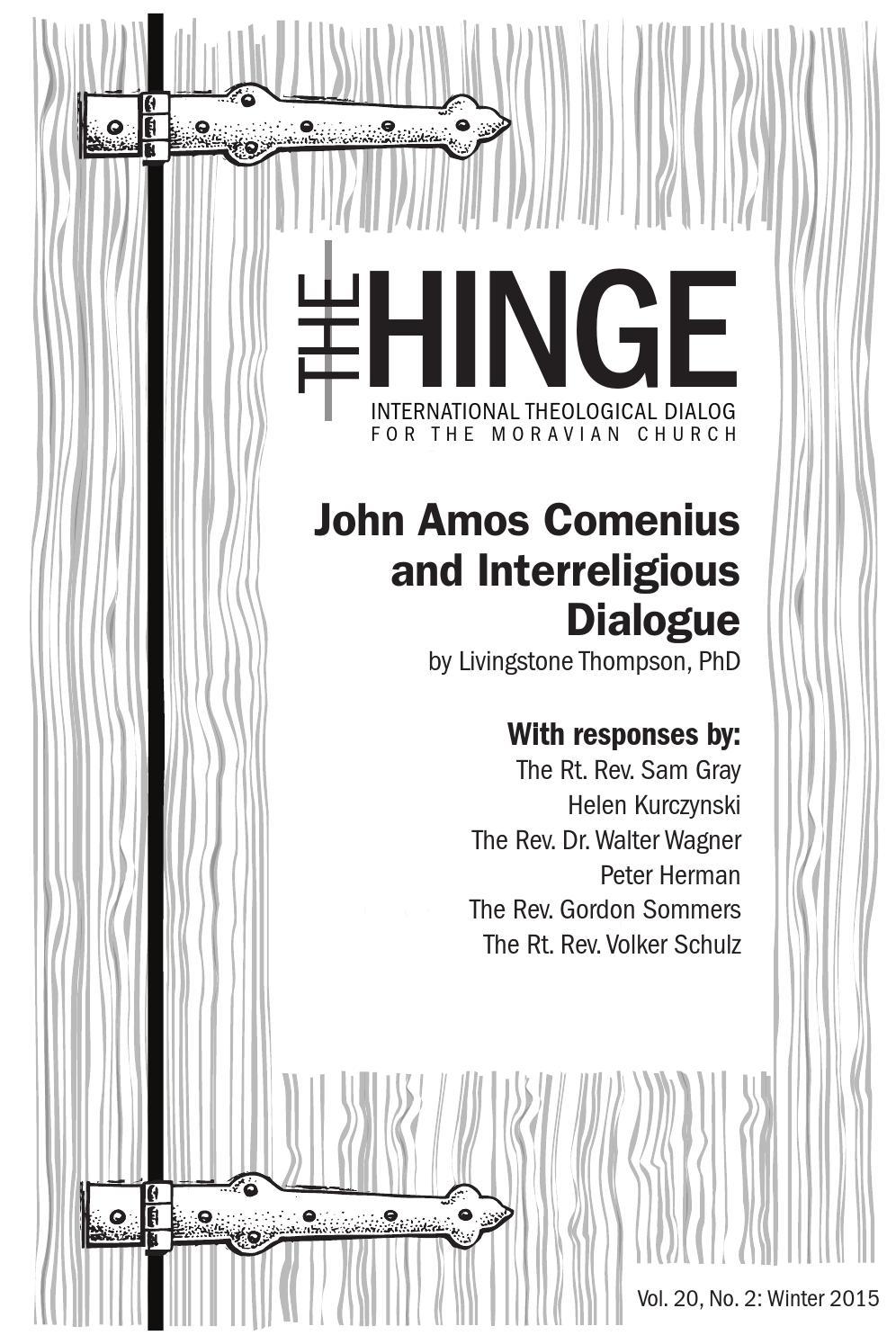 Hinge 20.2: John Amos Comenius & Interreligious Dialogue
