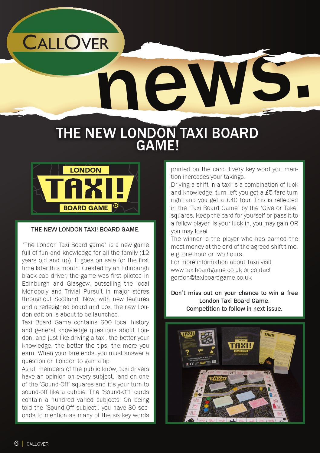 Issuu  Call Over Magazine  News Item Re Launch By Taxi