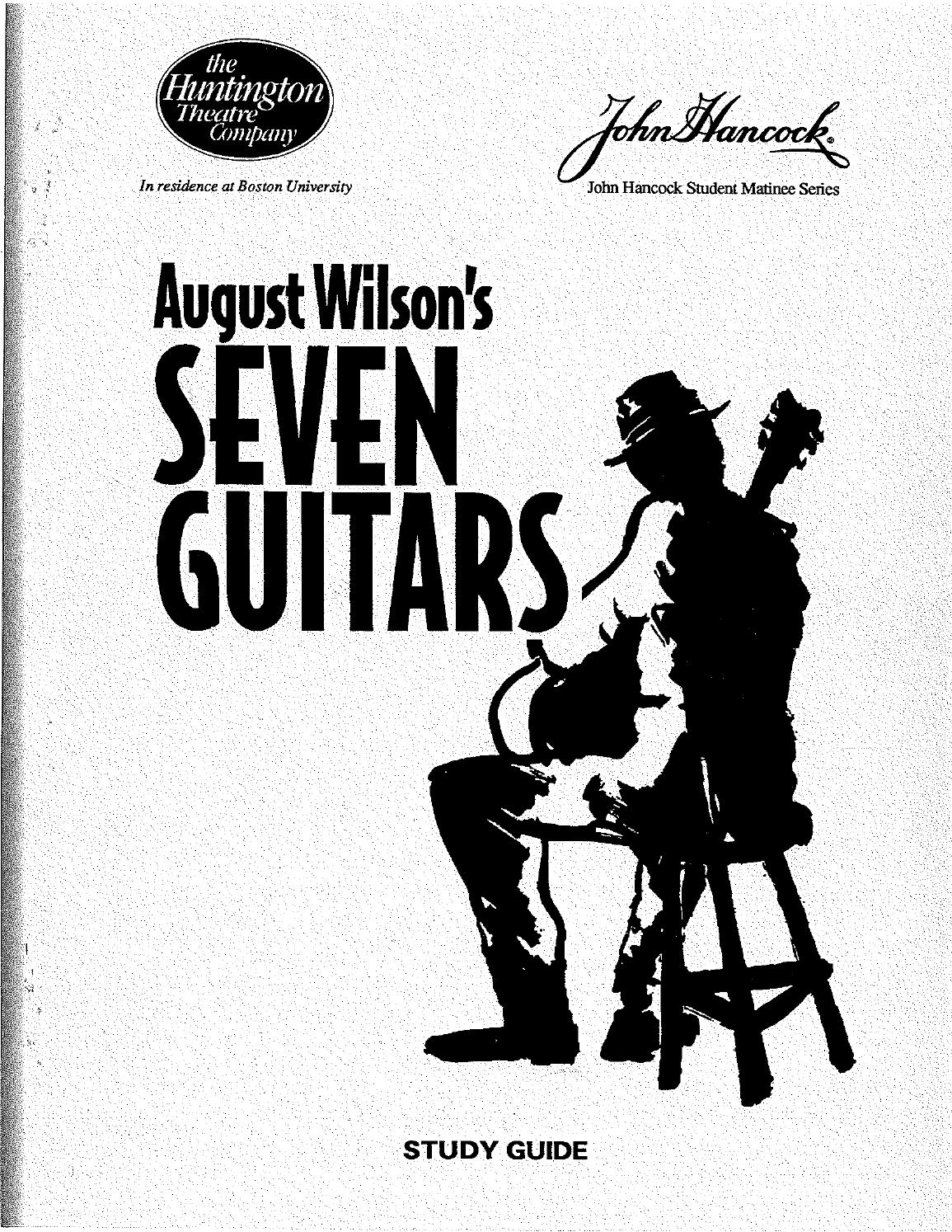 SEVEN GUITARS curriculum guide by Huntington Theatre