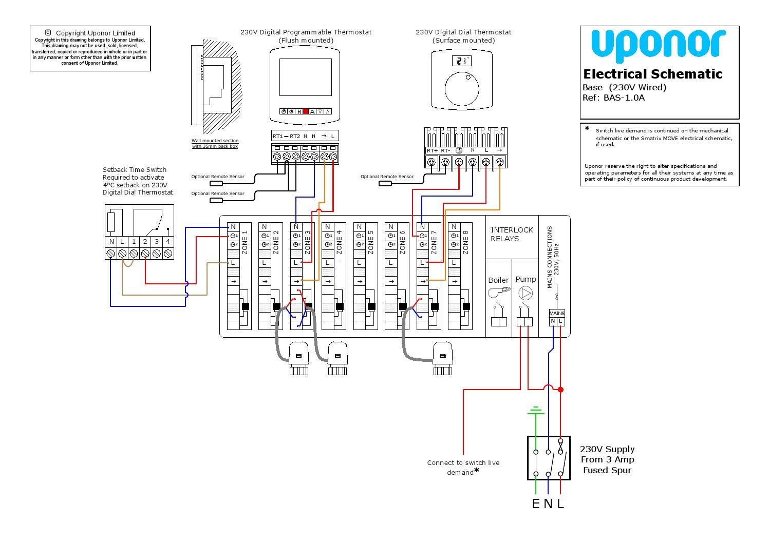 Uponor Underfloor Heating Wiring Diagrams
