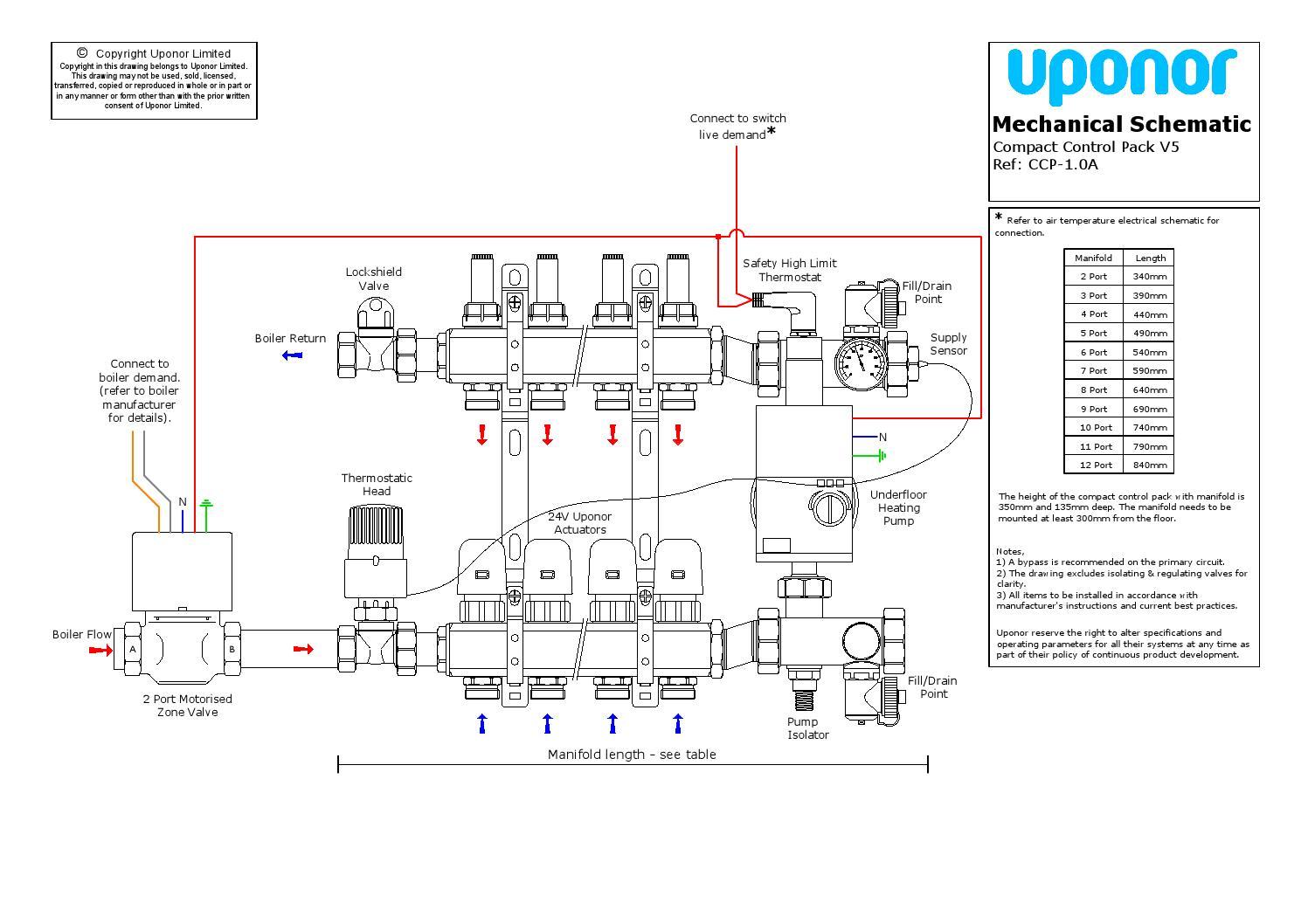 uponor underfloor heating wiring diagram
