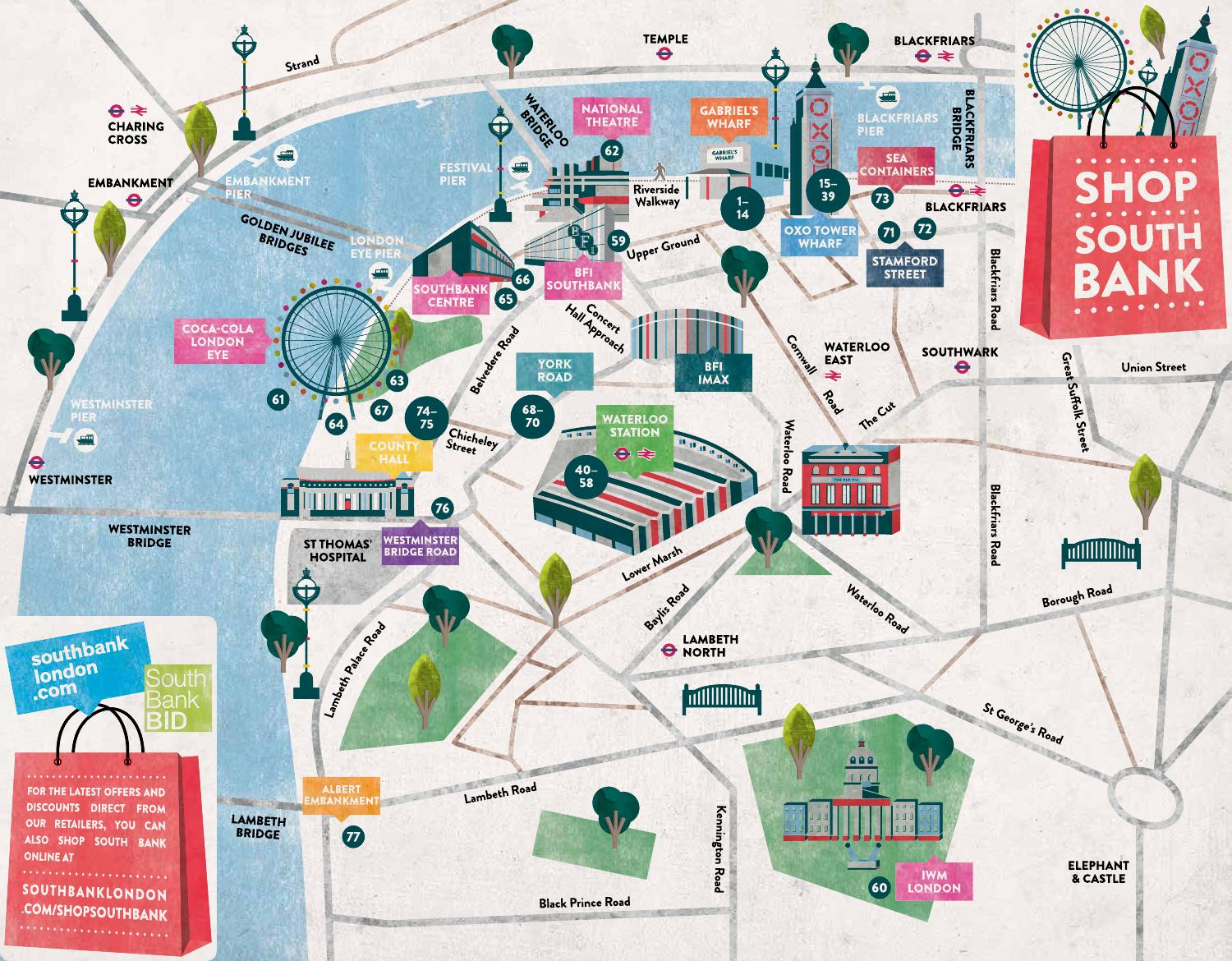 Shop South Bank Map By South Bank London Issuu