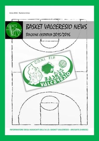 Basket Valceresio News 2016