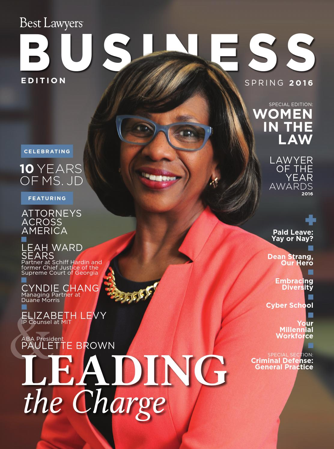 Best Lawyers Spring Business Edition 2016 by Best Lawyers