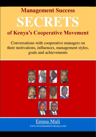 Book on Cooperative Management Success