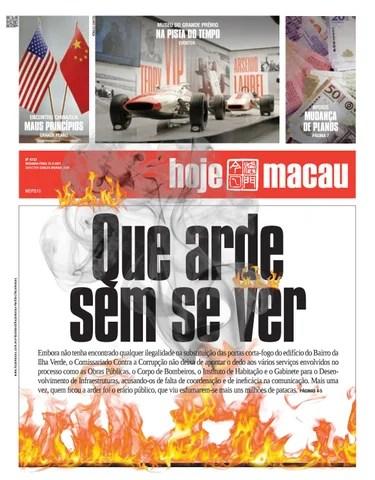 Hoje Macau 22 MAR 2021 #4733