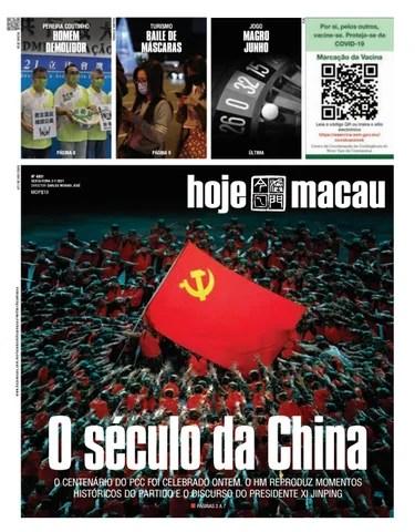 Hoje Macau 02 JULHO 2021 #4801