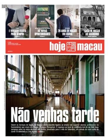 Hoje Macau 16 AGOSTO 2021 #4832