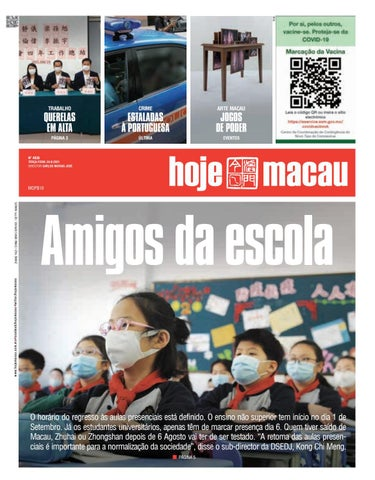 Hoje Macau 24 AGOSTO 2021 #4838