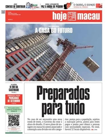 Hoje Macau 27 AGOSTO 2021 #4841