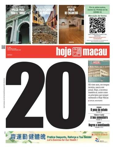 Hoje Macau 3 SETEMBRO 2021 #4846