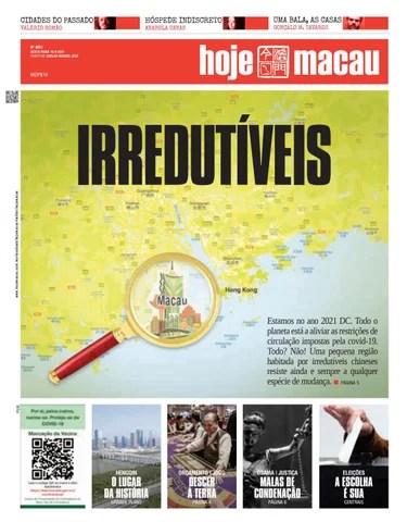 Hoje Macau 10 SETEMBRO 2021 #4851