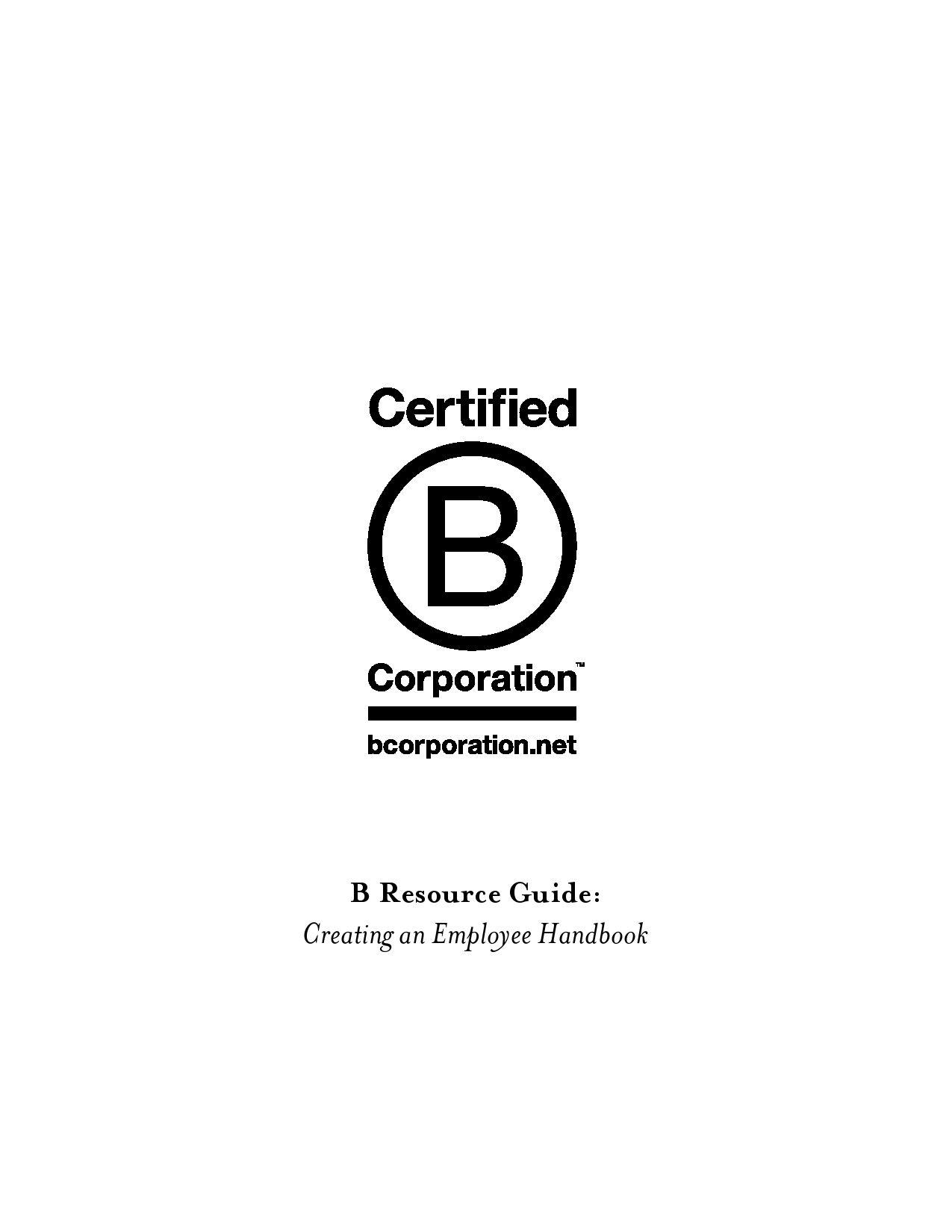 Creating an Employee Handbook by Blacksonville Community