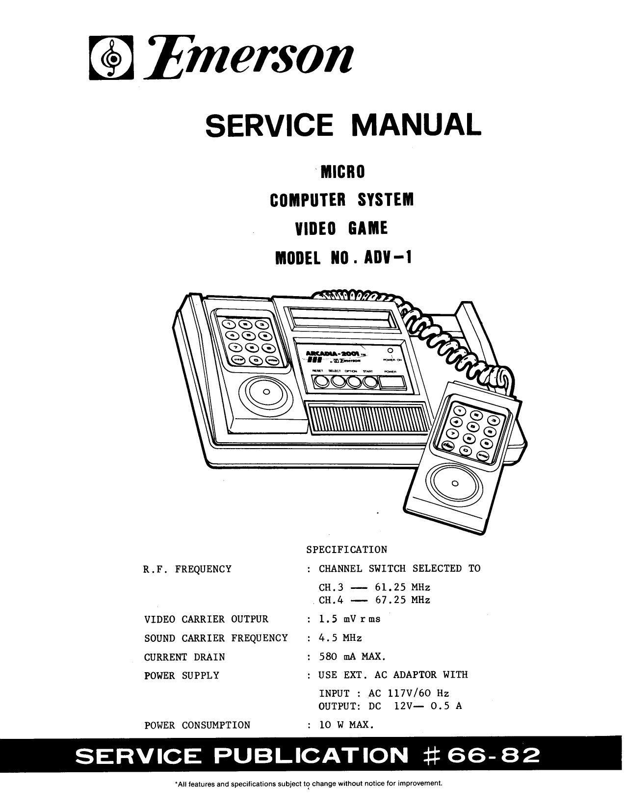Emersion Arcadia 2001 service manual by Olivier Boisseau