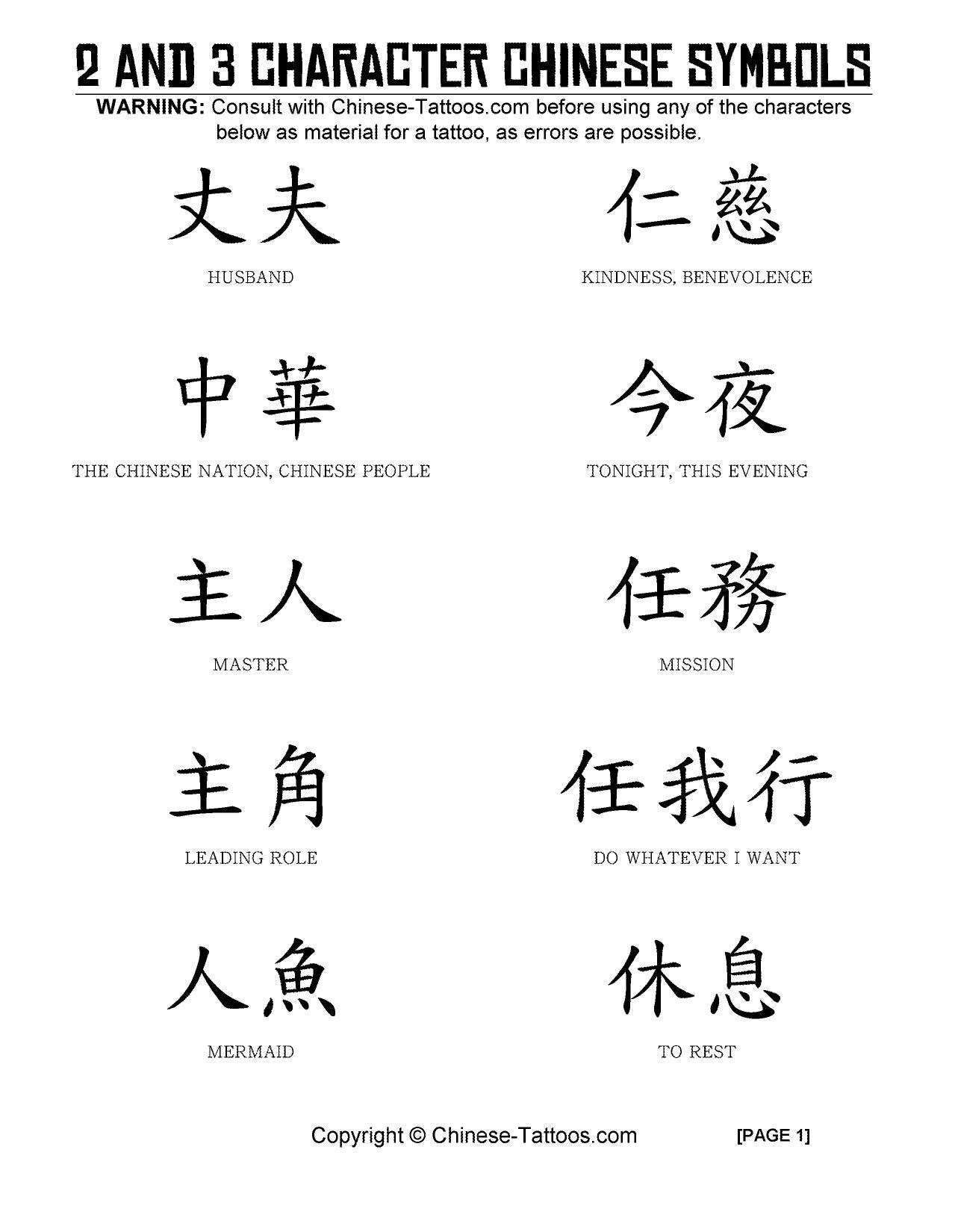 Chinese Character Tattoos : chinese, character, tattoos, Chinese, Tattoos, Characters, Chinese-Tattoos.com, Issuu
