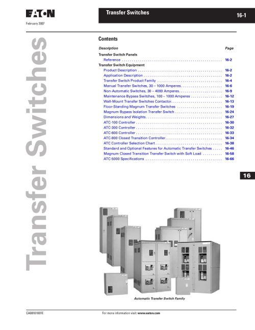 small resolution of tab 16 transfer switches by greg campbell issuu