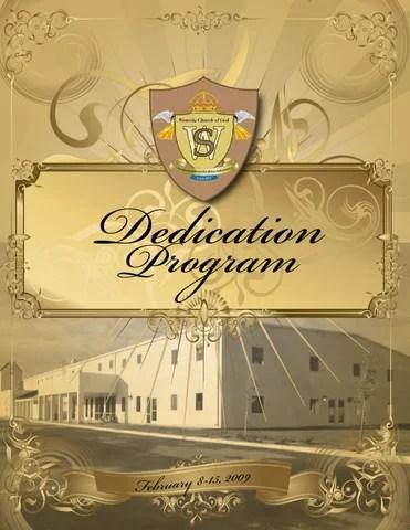 Westside Church of God Building Dedication program by