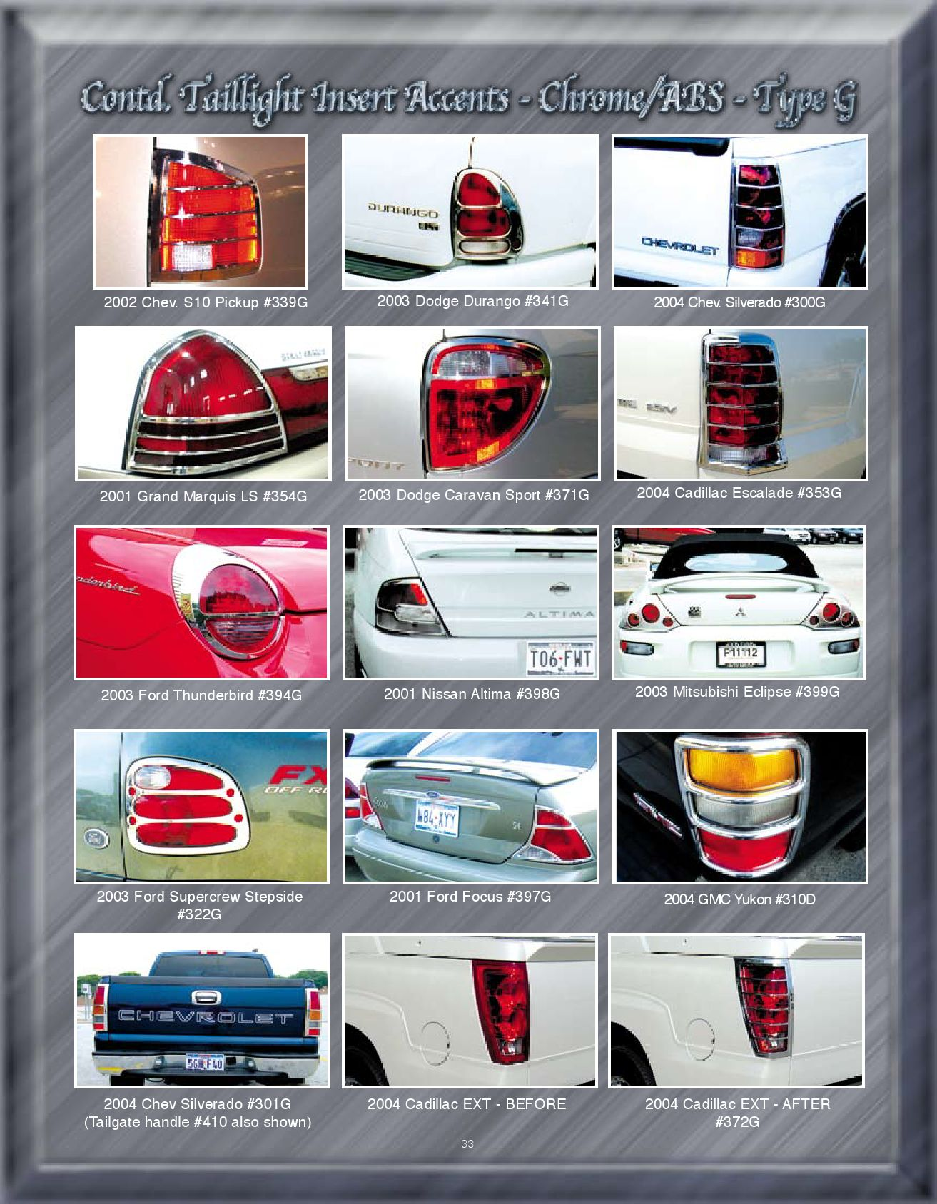 hight resolution of chrome accessories taillight insert