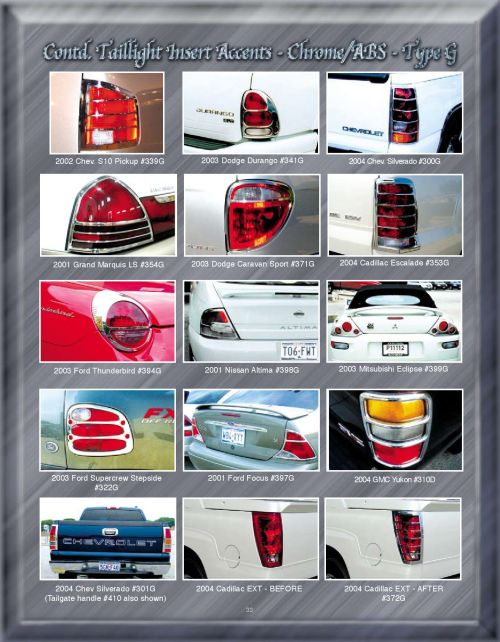 small resolution of chrome accessories taillight insert