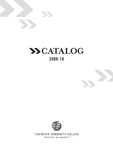 Tidewater Community College Course Catalog 2009 by Dave