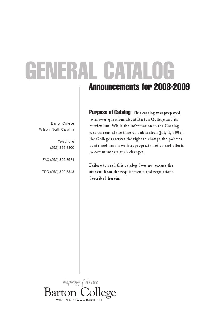 Optimal Resume Harris School Of Business 2008 2009 Barton College Course Catalog By Keith Tew Issuu