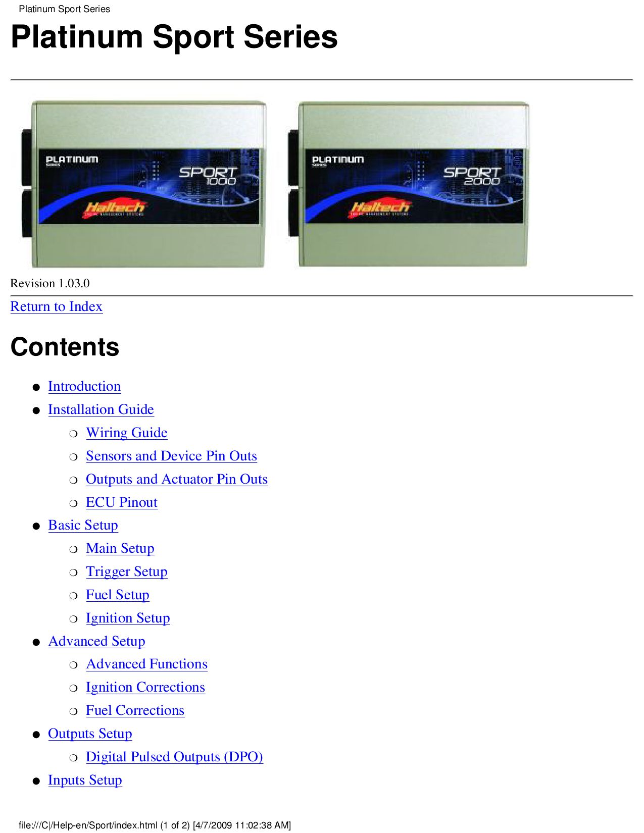 Haltech Platinum Sport Manual By Mike Roberts Issuu