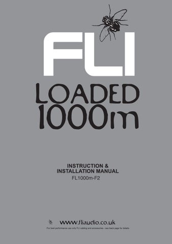 FLI Audio Loaded 1000m Amplifier Manual by Talk Audio