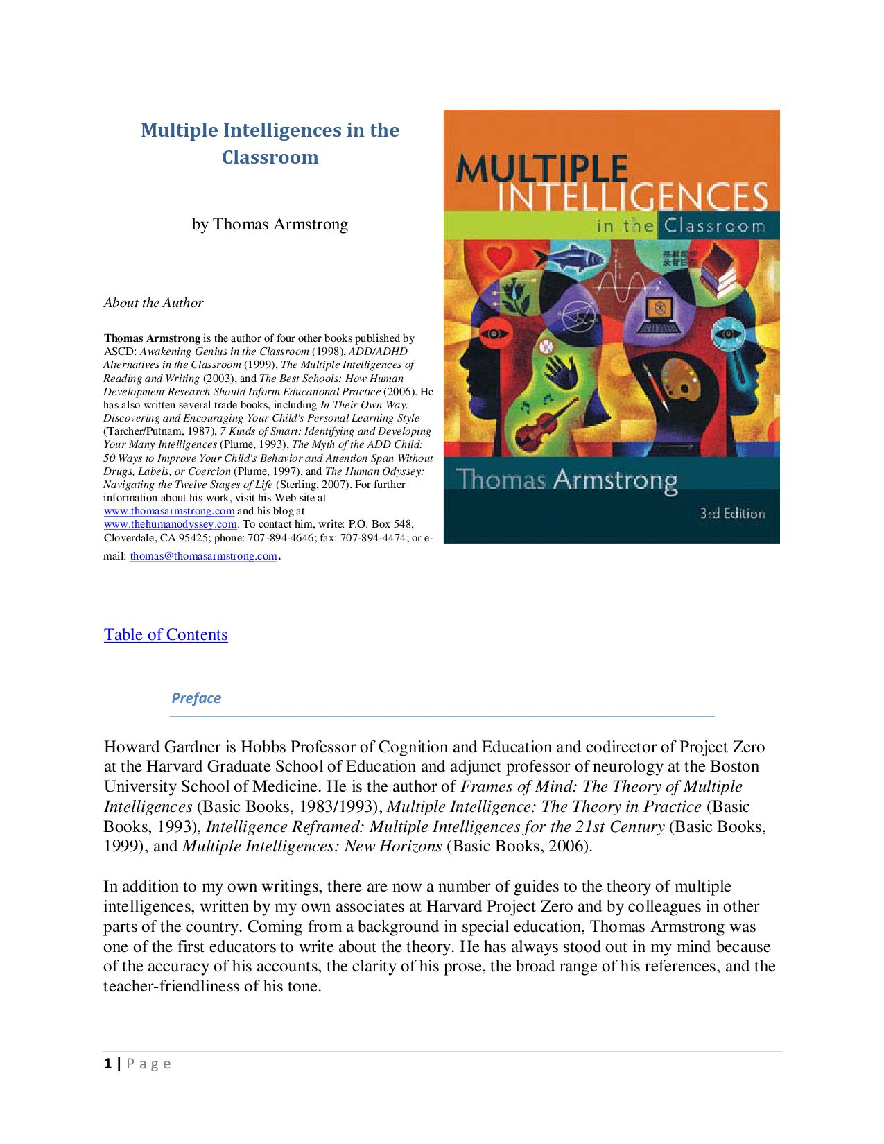 Multiple Intelligences In The Classroom By Stephen Drazhev Issuu