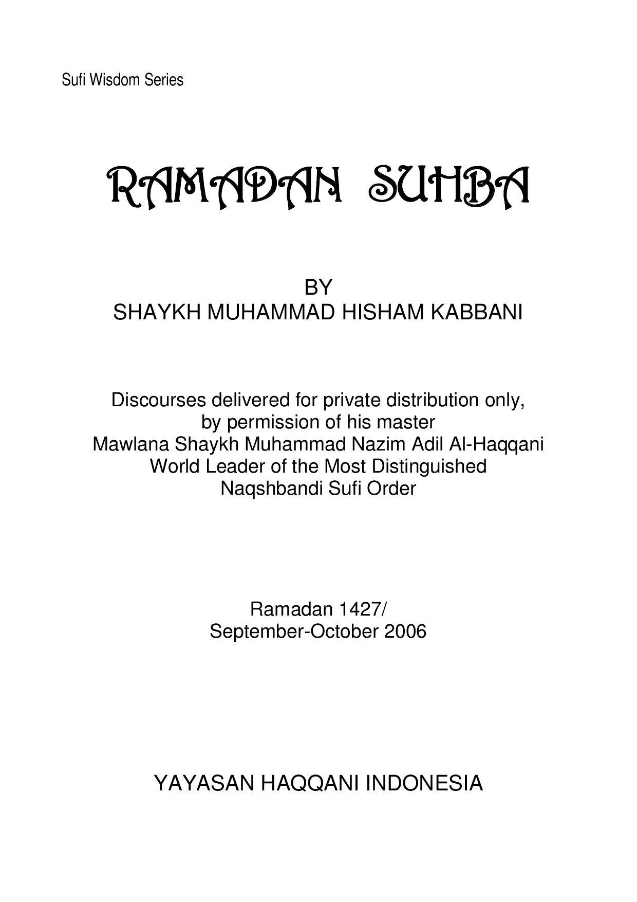 Idza Mata Ibnu Adama : adama, Reflection, Soul:, Ramadan, Suhba, Abdurrauf, Kurniadi, Issuu