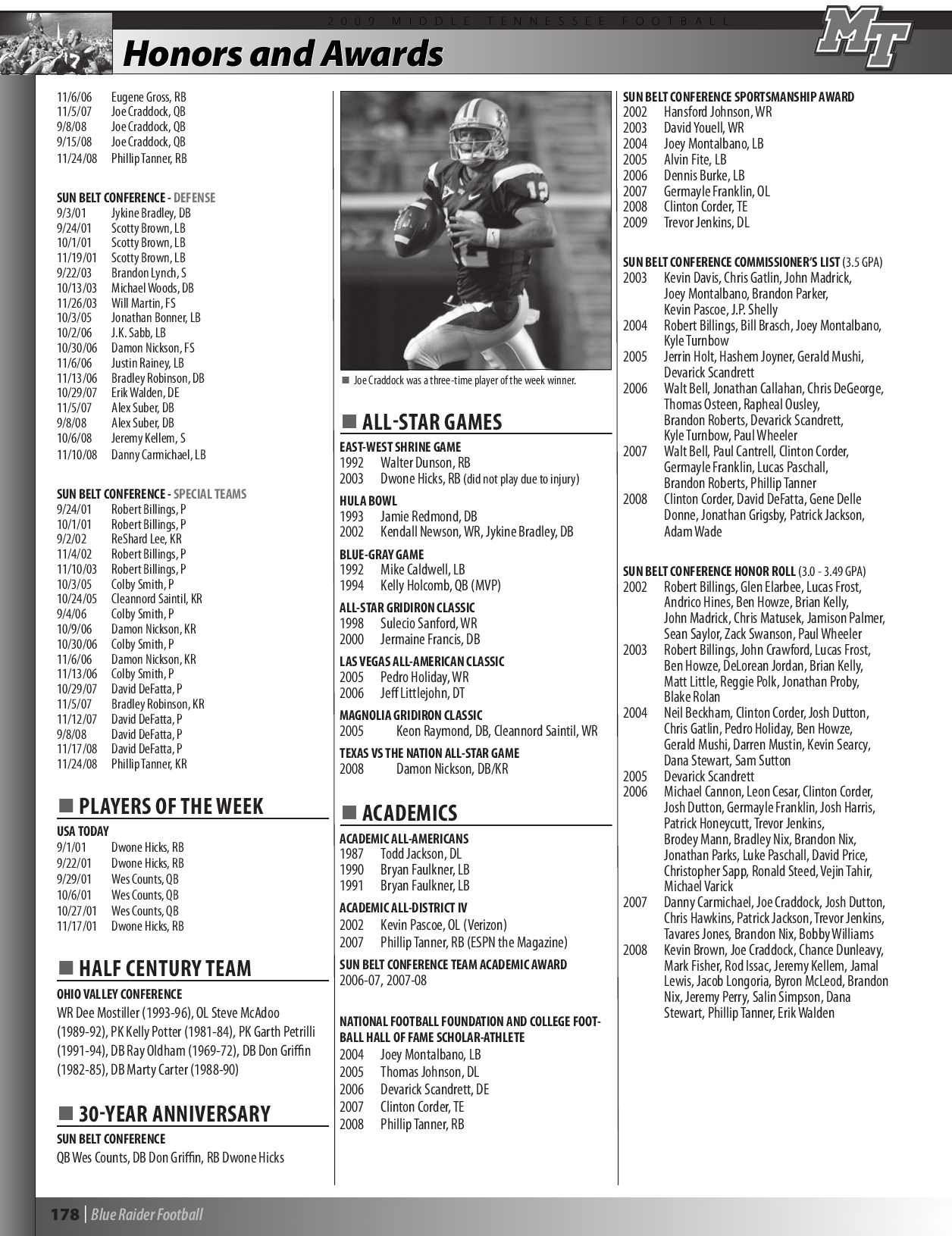 2009 Middle Tennessee Football Media Guide by Middle