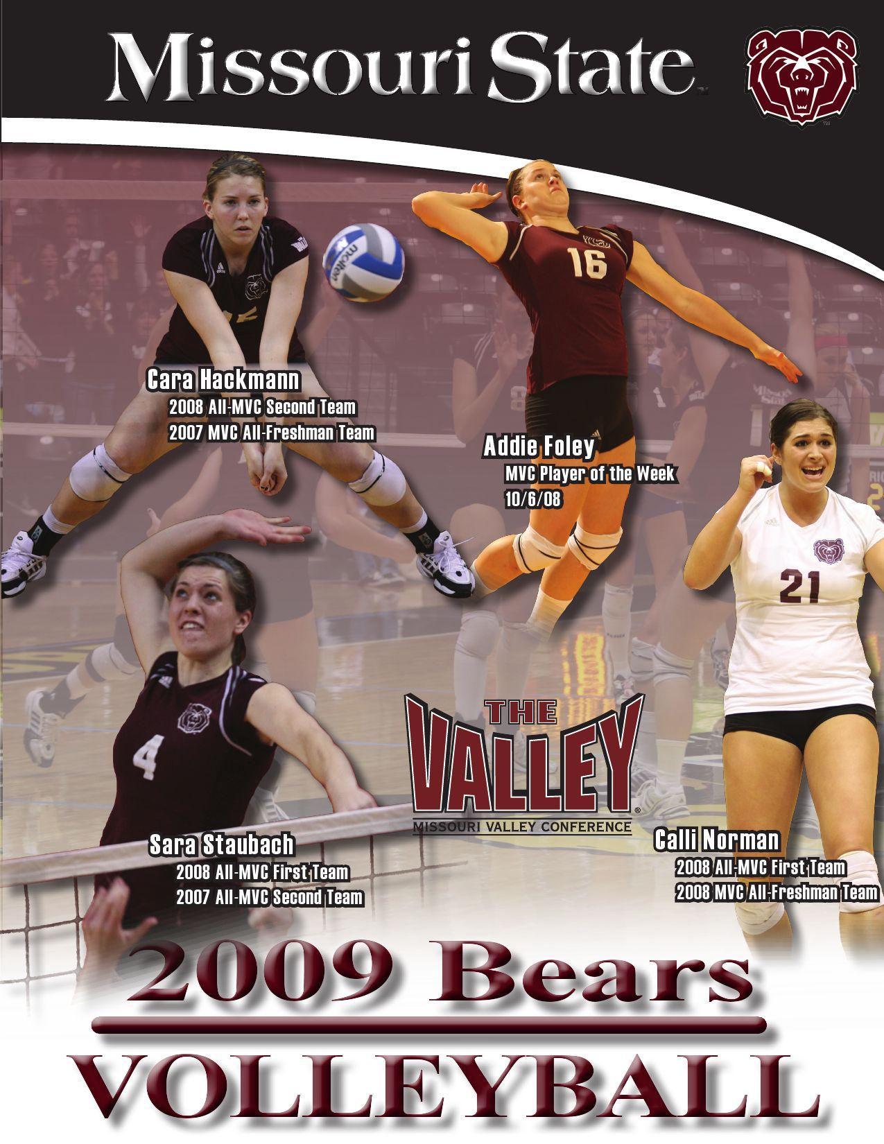 2009 MSU Volleyball Guide by Missouri State Bears - issuu