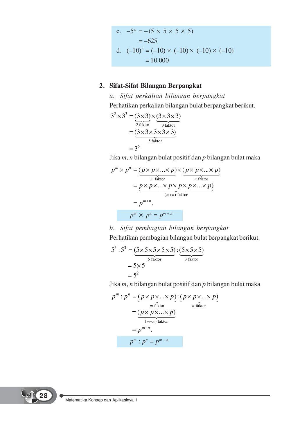 Pembagian Bilangan Berpangkat : pembagian, bilangan, berpangkat, Kelas01_matematika-konsep-dan-aplikasinya_dewi-tri, Selagan, Issuu