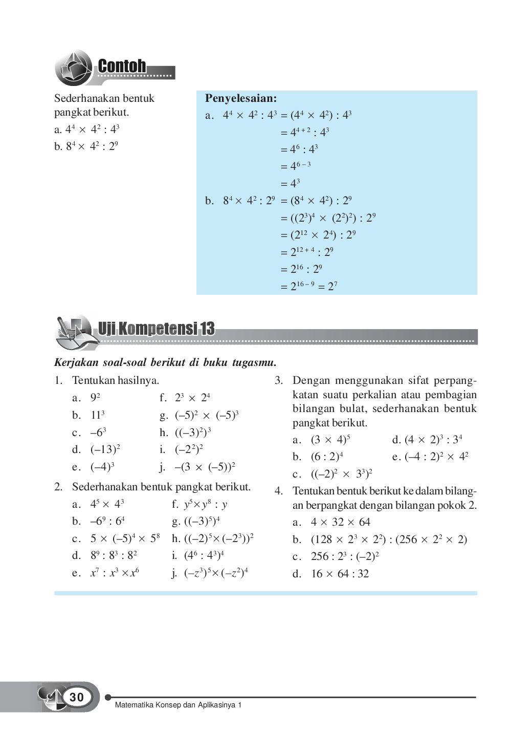 Sederhanakanlah Bentuk Pangkat Berikut : sederhanakanlah, bentuk, pangkat, berikut, Kelas01_matematika-konsep-dan-aplikasinya_dewi-tri, Selagan, Issuu