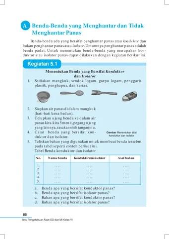 Contoh Benda Konduktor Dan Isolator Panas : contoh, benda, konduktor, isolator, panas, Kelas04_ipa_yayat-sri-lilis, Selagan, Issuu