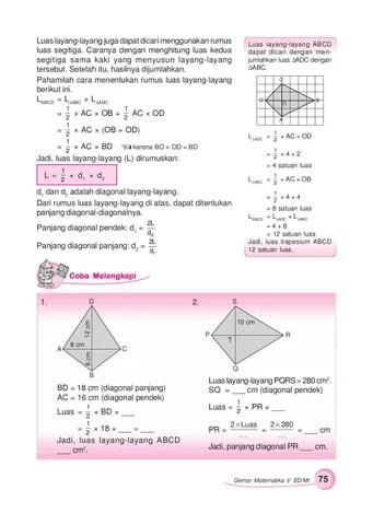 Diagonal Layang Layang : diagonal, layang, Kelas05_gemar-matematika_sumanto-heny-nur, Selagan, Issuu