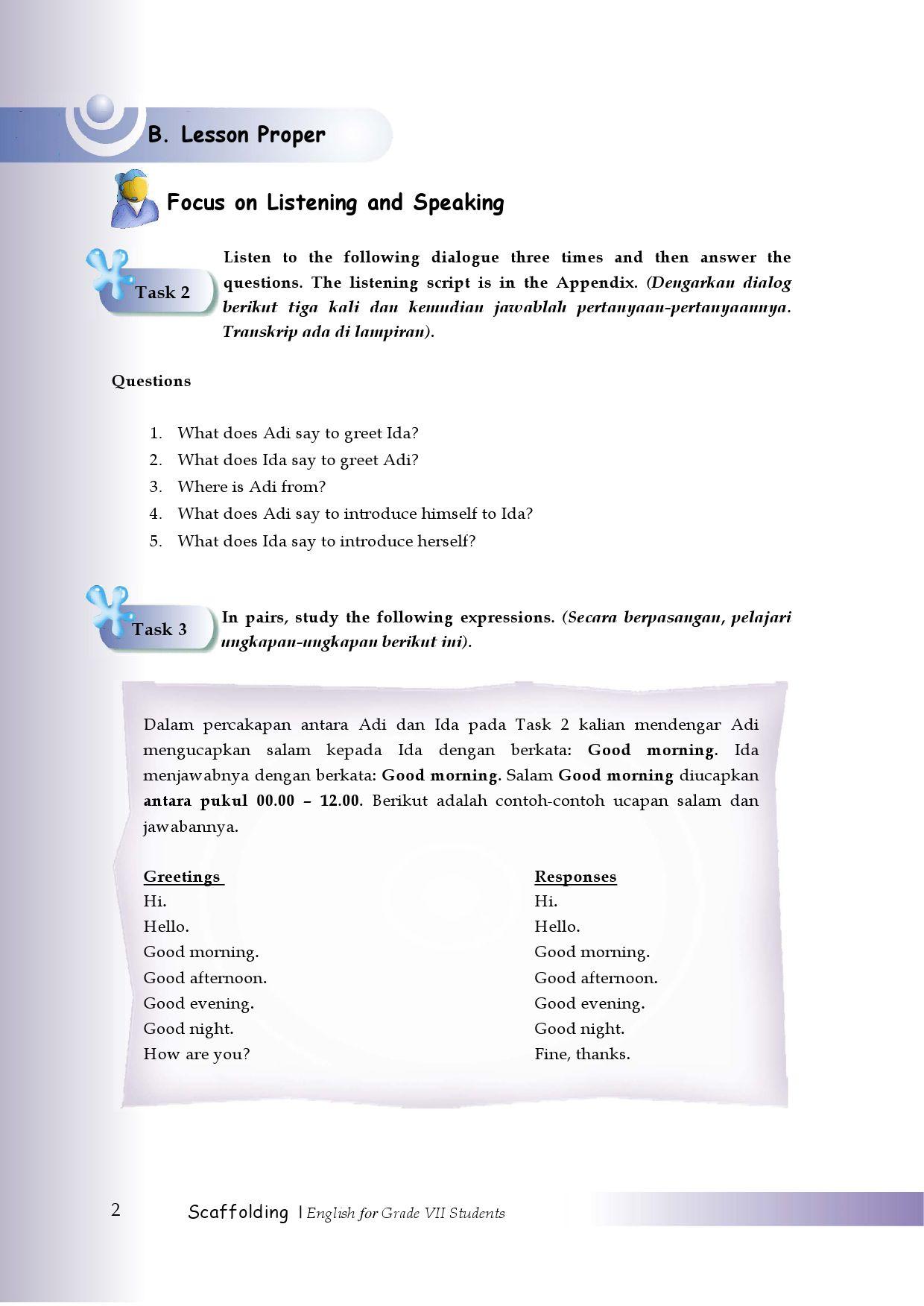 Contoh Dialog Introduce : contoh, dialog, introduce, Kelas07_scaffolding-english-for-jhs_joko-riandi-anita, Selagan, Issuu