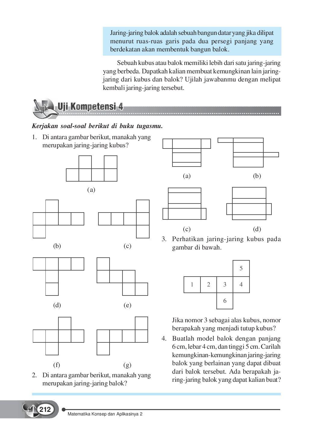 Contoh Soal Jaring-jaring Kubus Dan Balok Kelas 5 Sd : contoh, jaring-jaring, kubus, balok, kelas, Latihan, Jaring, Kubus, Balok, IlmuSosial.id