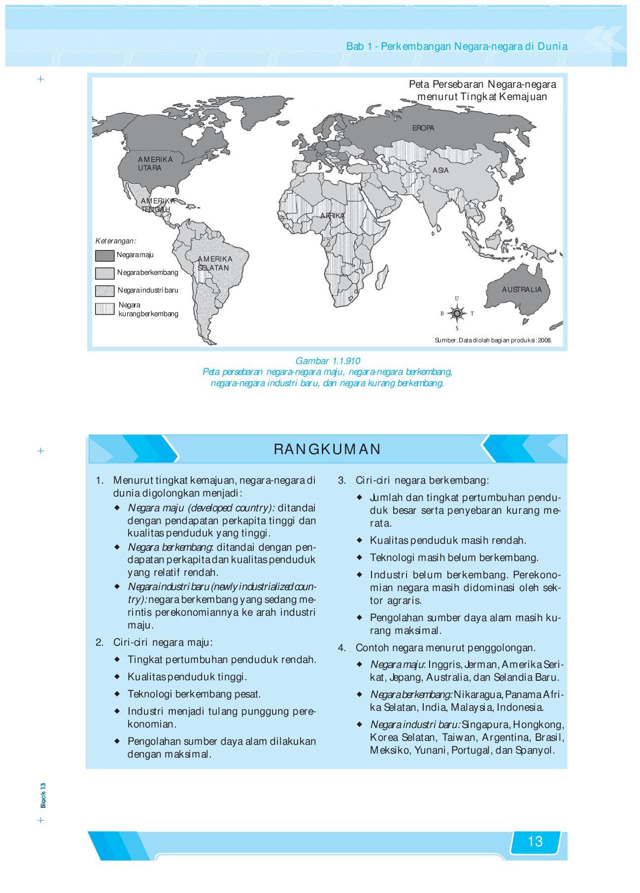 Peta Negara Maju : negara, Negara, Berkembang