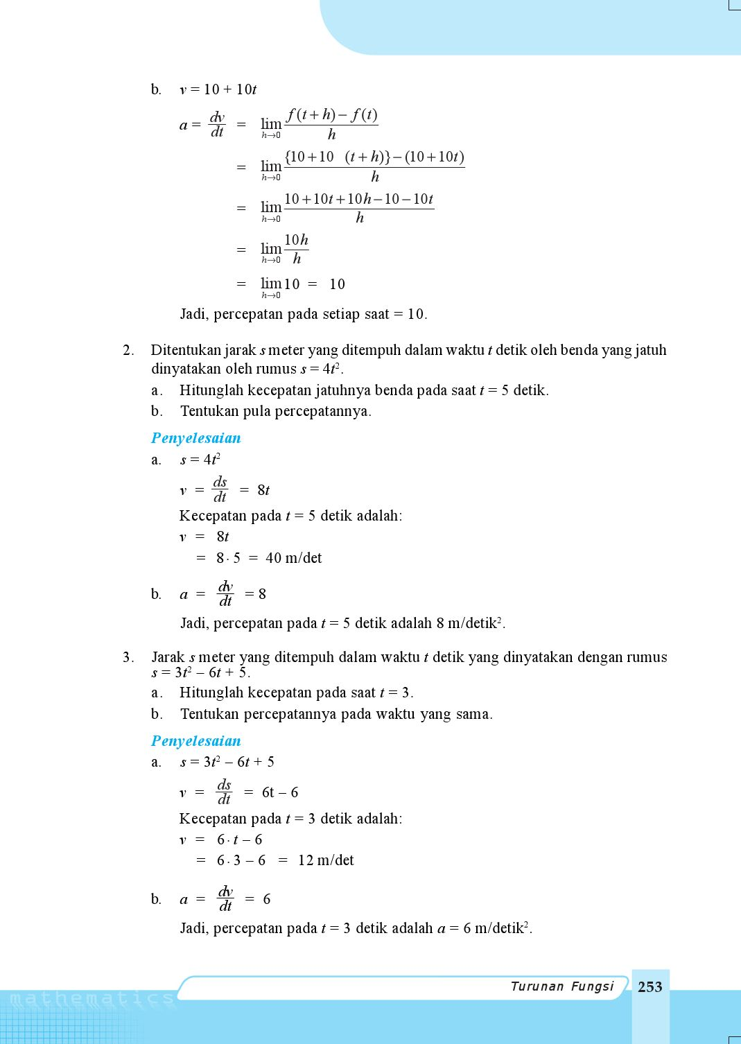 Rumus Kecepatan Dan Percepatan : rumus, kecepatan, percepatan, Kelas11_matematika-ipa_nugroho-maryanto, Selagan, Issuu