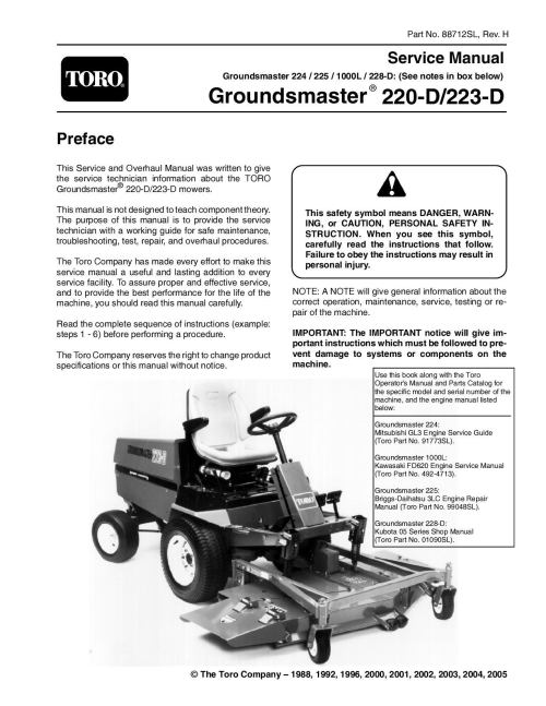 small resolution of 88712sl pdf groundsmaster 200 series rev h nov 2005 by negimachi negimachi issuu
