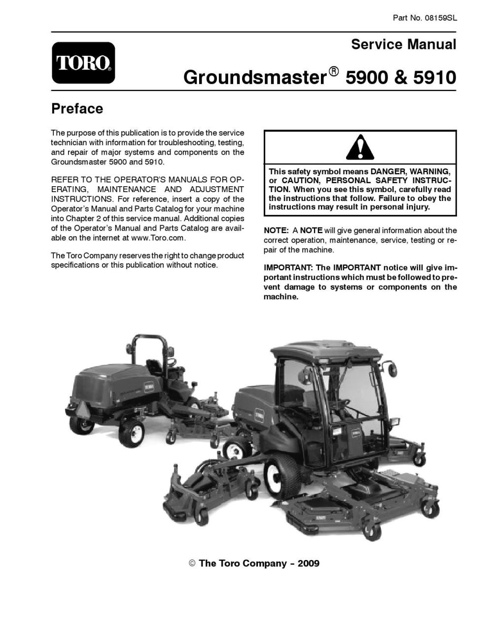 medium resolution of 08159sl pdf groundsmaster 5900 5910 jan 2009 new by negimachi negimachi issuu