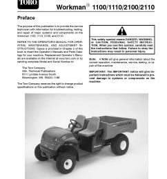 02110sl pdf workman 1100 1110 2100 2110 rev d aug 2007 by rh issuu com toro lawn mower wiring diagram toro riding mower wiring diagrams [ 1275 x 1650 Pixel ]