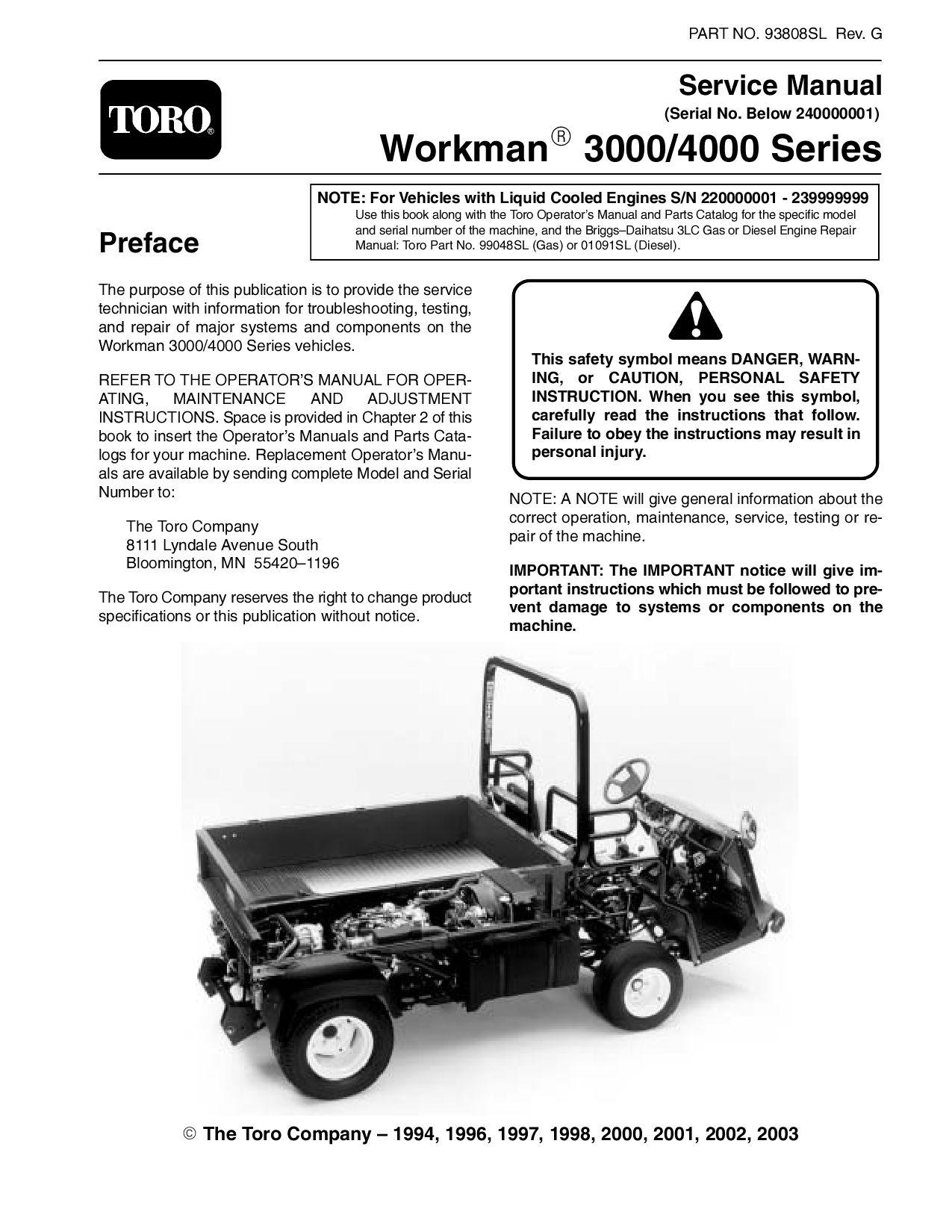 hight resolution of 93808sl pdf workman 3000 4000 series s n below 240000000 rev g 2003 by negimachi negimachi issuu