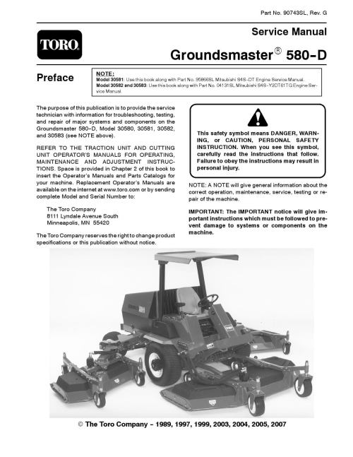 small resolution of 90743sl pdf groundsmaster 580 d rev g dec 2007 by negimachi negimachi issuu