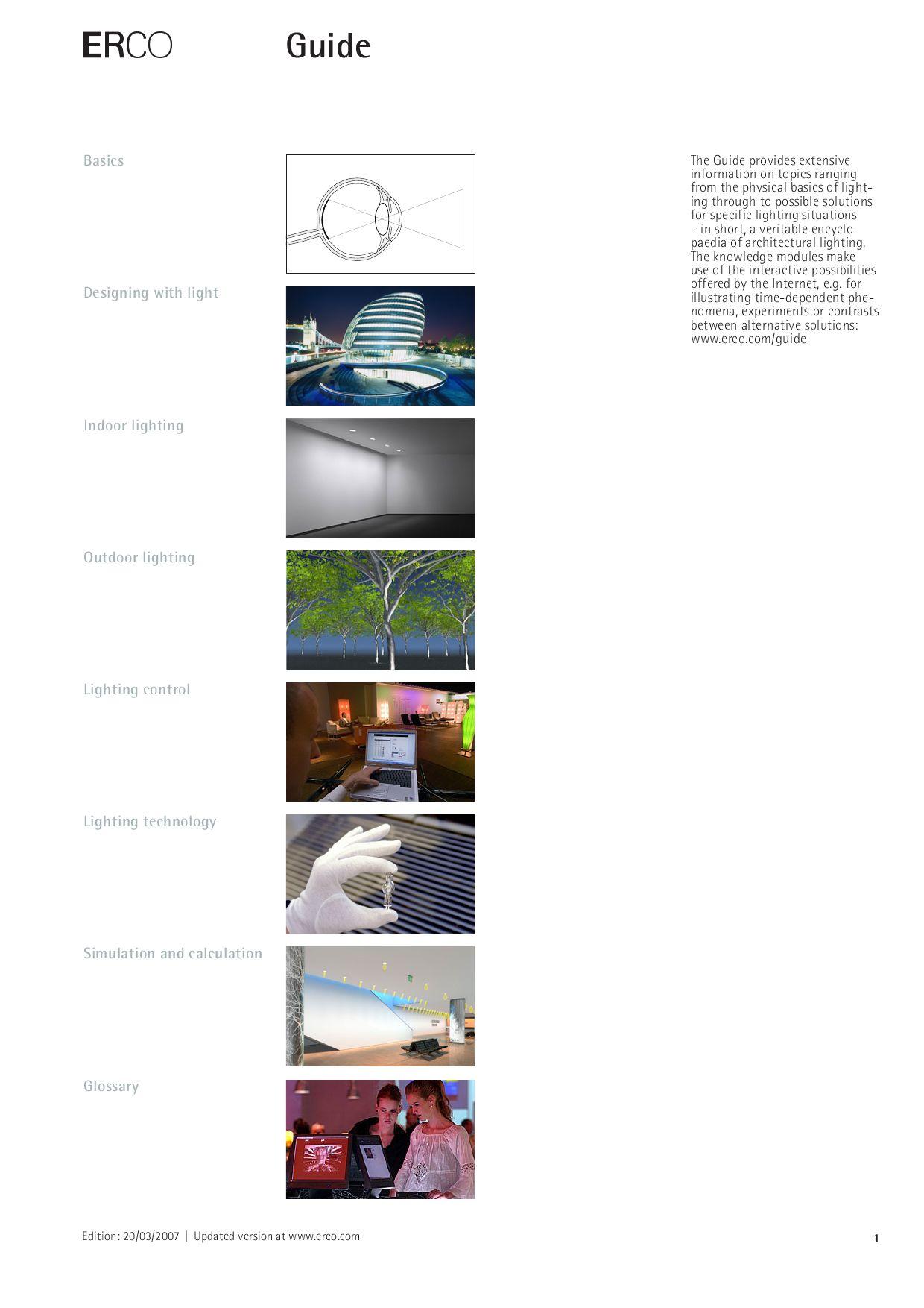 erco lighting guide 2007 by lightonline
