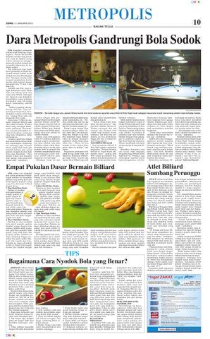 Cara Bermain Billiard Yang Benar : bermain, billiard, benar, Radar, Tegal, Januari, Jaelani, Hutabarat, Issuu