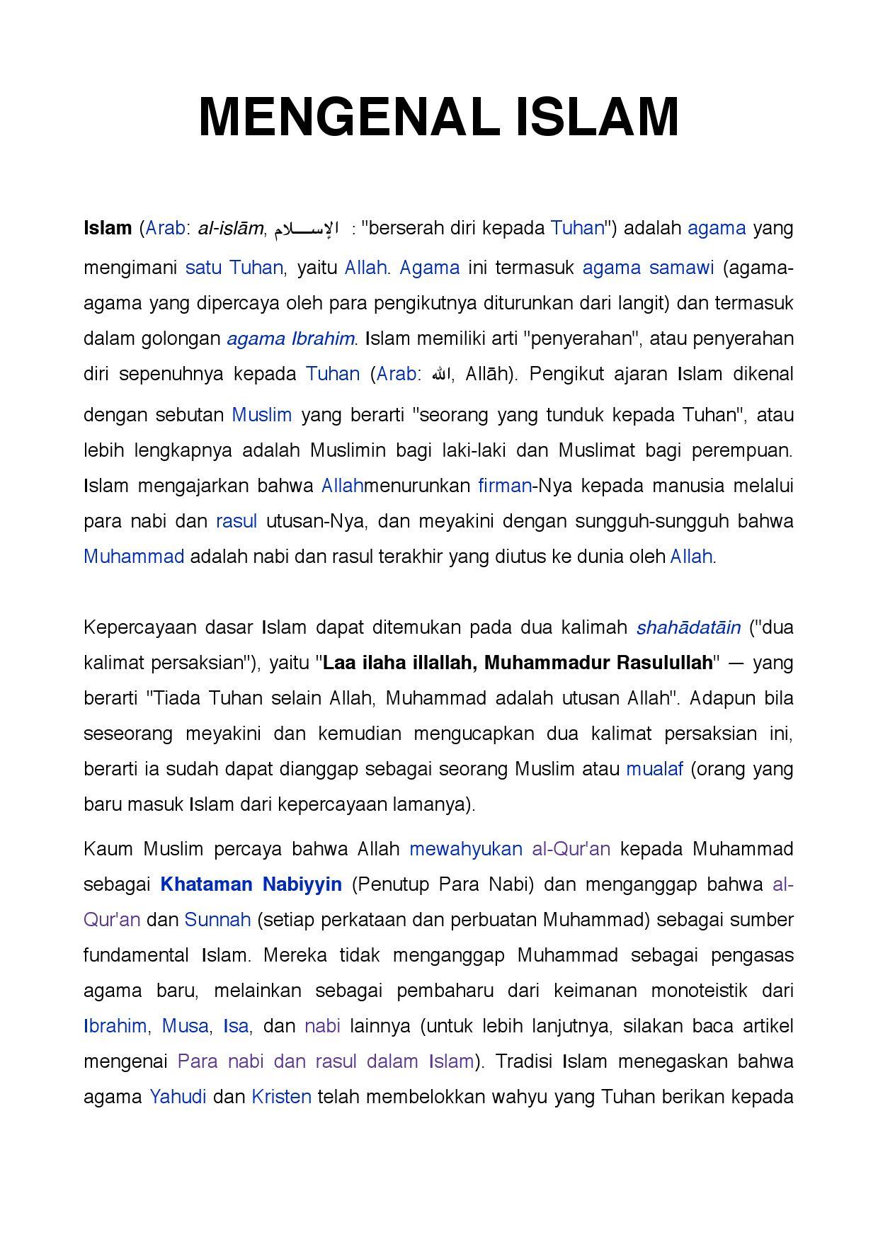 Nabi Ibrahim Dikenal Dengan Sebutan : ibrahim, dikenal, dengan, sebutan, Mengenal, Islam, Garincha, Mastrosiani, Issuu