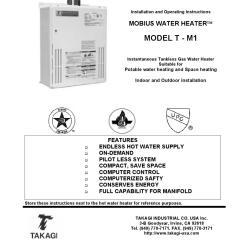 Tankless Water Heater Piping Diagram 5 Way Trailer Plug Wiring Takagi Tm 1 By Albert Nahman Plumbing And Heating Issuu