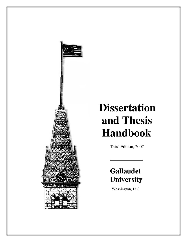 Dissertation and Thesis Handbook by Gallaudet University