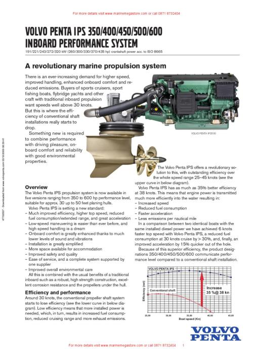 small resolution of volvo penta europe volvo penta ips 350 400 450 500 600 brochure by marine mega store ltd issuu